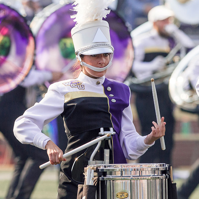 WCU student performs big for Pride of the Mountains