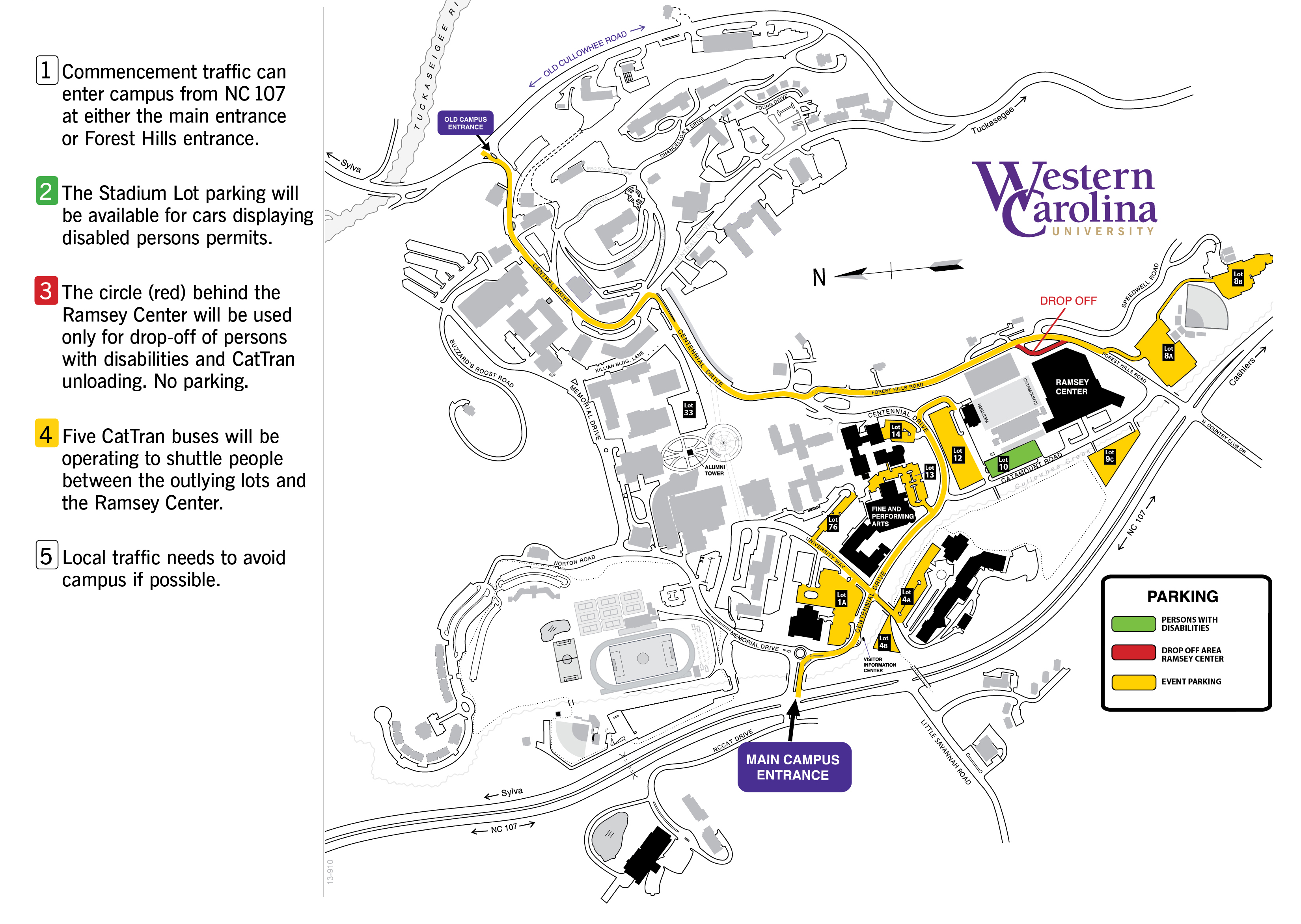 Fall 2016 Commencement Map