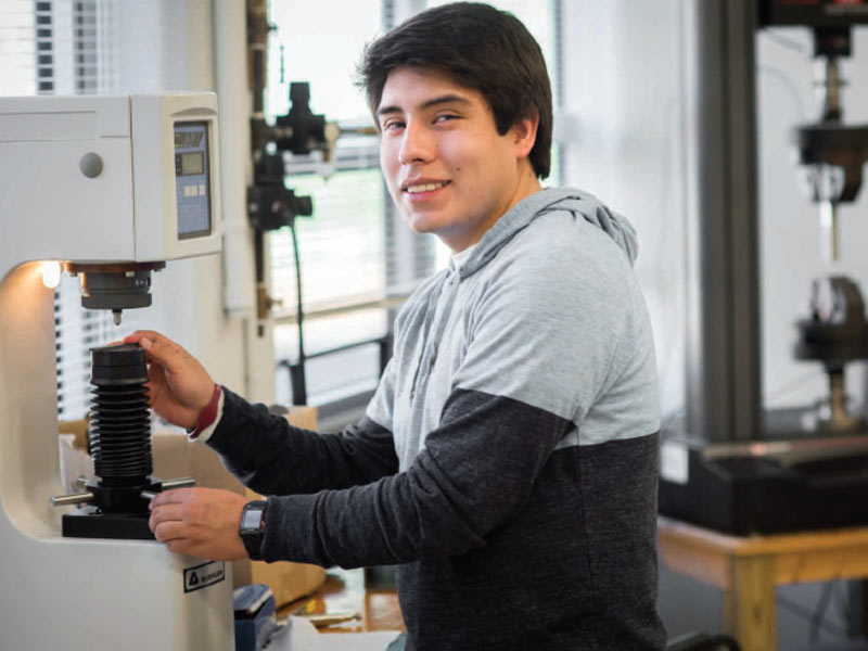 Eaton Corporation growing partnerships through scholarship support. Recipient Pablo Valenzuela.