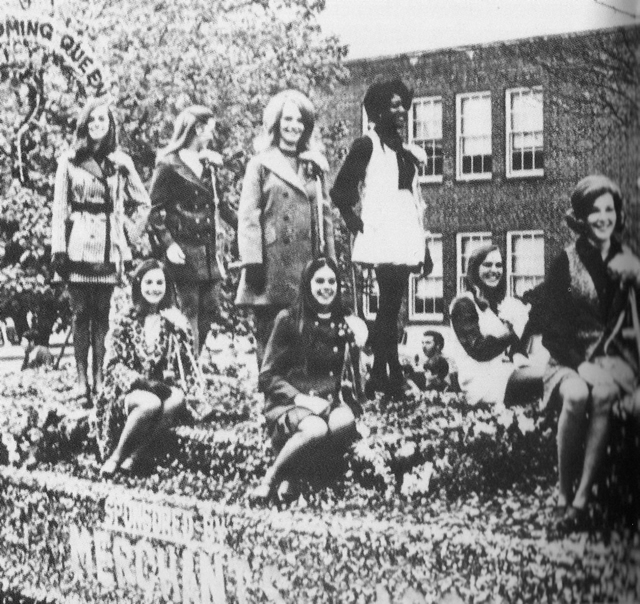 1970 Homecoming Queen and her court