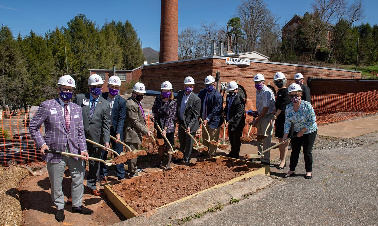 steam plant groundbreaking