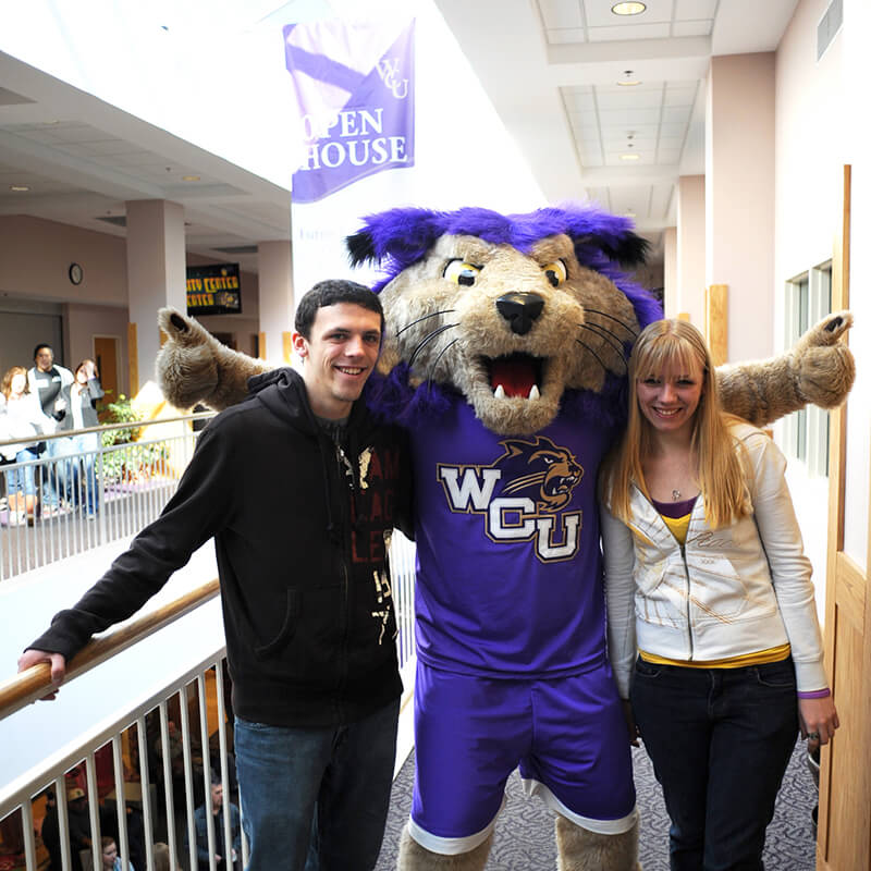 Open house event with Paws mascot